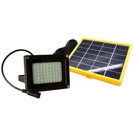 Faro LED recargable con panel solar 10W 370 luz fría mando incluido