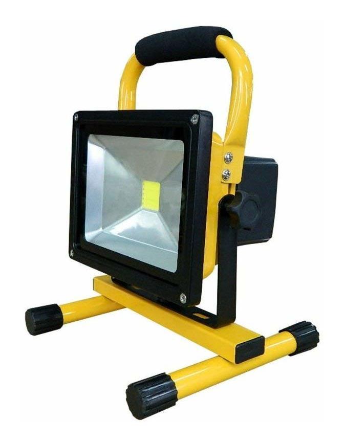Faro led ricaricabile portatile 20w luce bianca con for Faro arredamenti