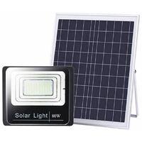 Faro led smd 80W pannello solare energia crepuscolare IP66 telecomando T-80
