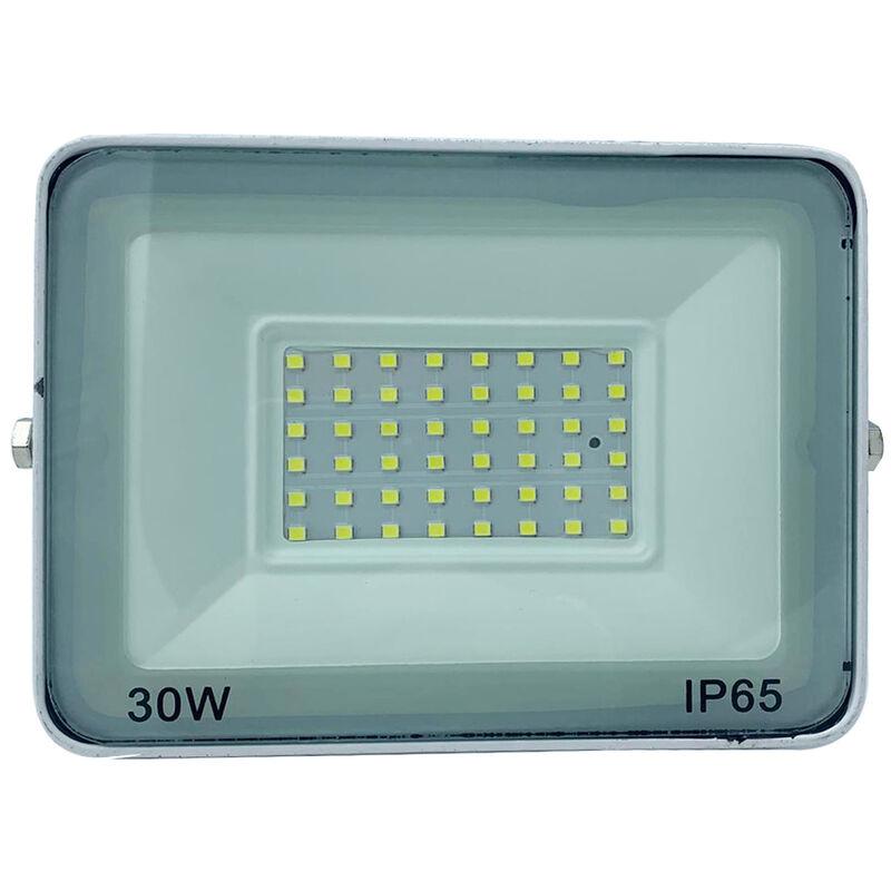 Faro led smd faretto slim esterno 30w luce fredda ultra slim bianco BN - BS