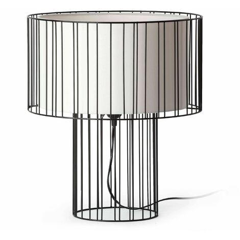 Faro Linda - 1 Light Table Lamp White, Black, E27