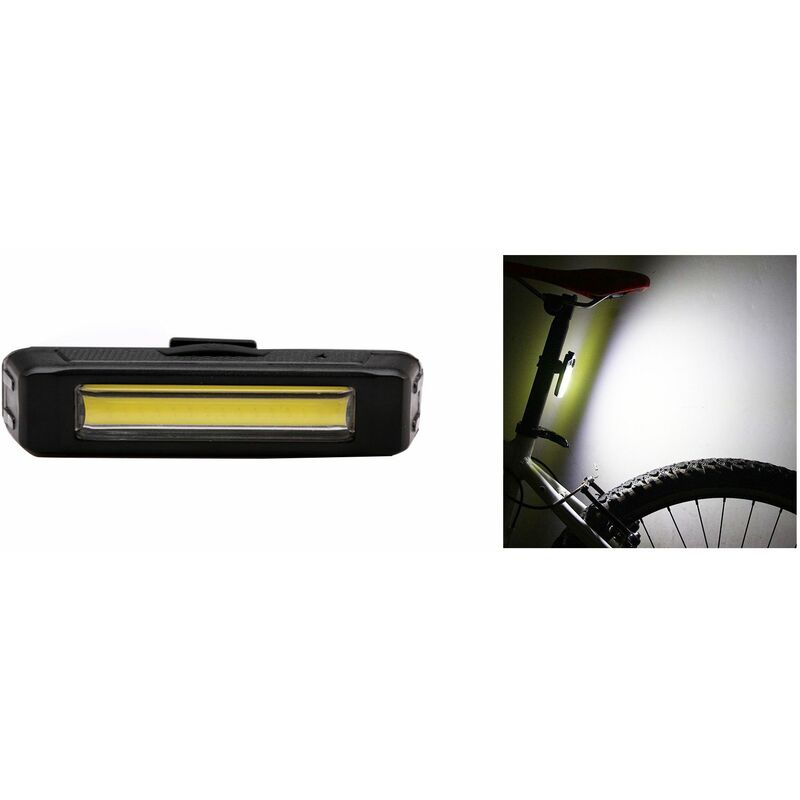 LUCE ANTERIORE LED COB RICARICABILE USB BICI CICLO BICICLETTA BIANCO TE-B0086