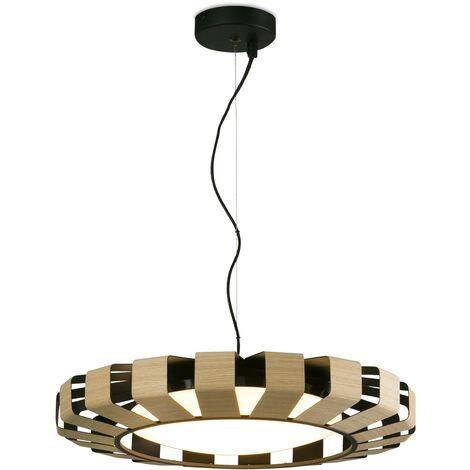 Faro Pauline - LED Dimmable Ceiling Pendant Light Wood