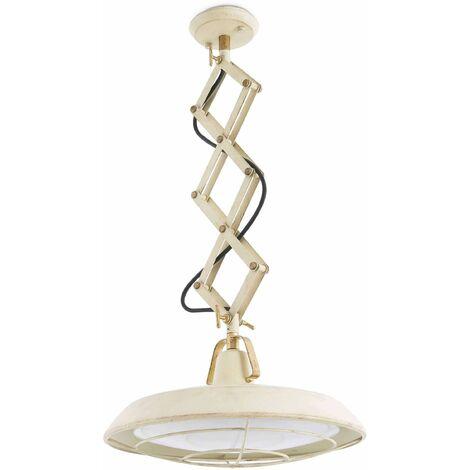 Faro Plec - LED 1 Light Adjustable Outdoor Dome Ceiling Pendant Light Off-White IP44