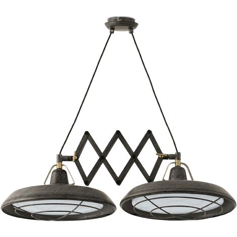 Faro Plec - LED 2 Light Double Adjustable Outdoor Ceiling Pendant Bar Light Old Brown IP44