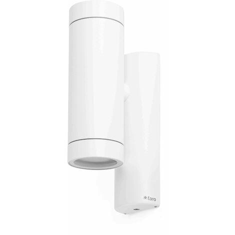 Faro Steps - 2 Light Outdoor Wall Light White IP44, GU10