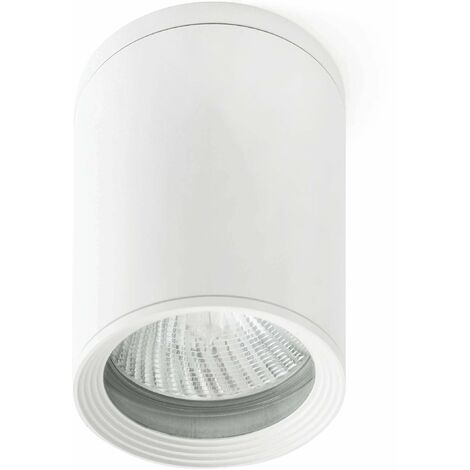 Faro Tasa - 1 Light Outdoor Surface Mounted Ceiling Light White IP44