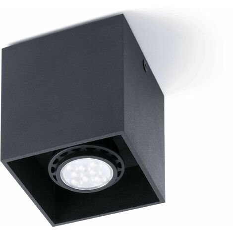 Faro Tecto - 1 Light Square Surface Mounted Downlight White, GU10