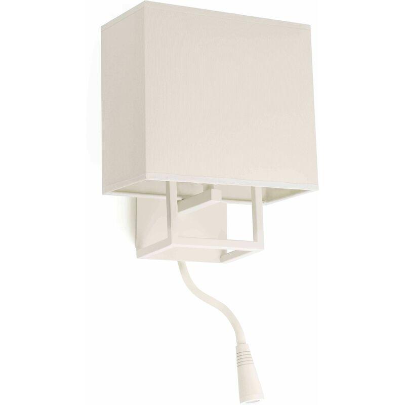 Image of 1-light white Vesper wall lamp