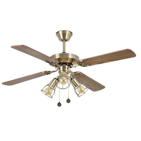 Faro YAKARTA LED Old Gold Ceiling Fan