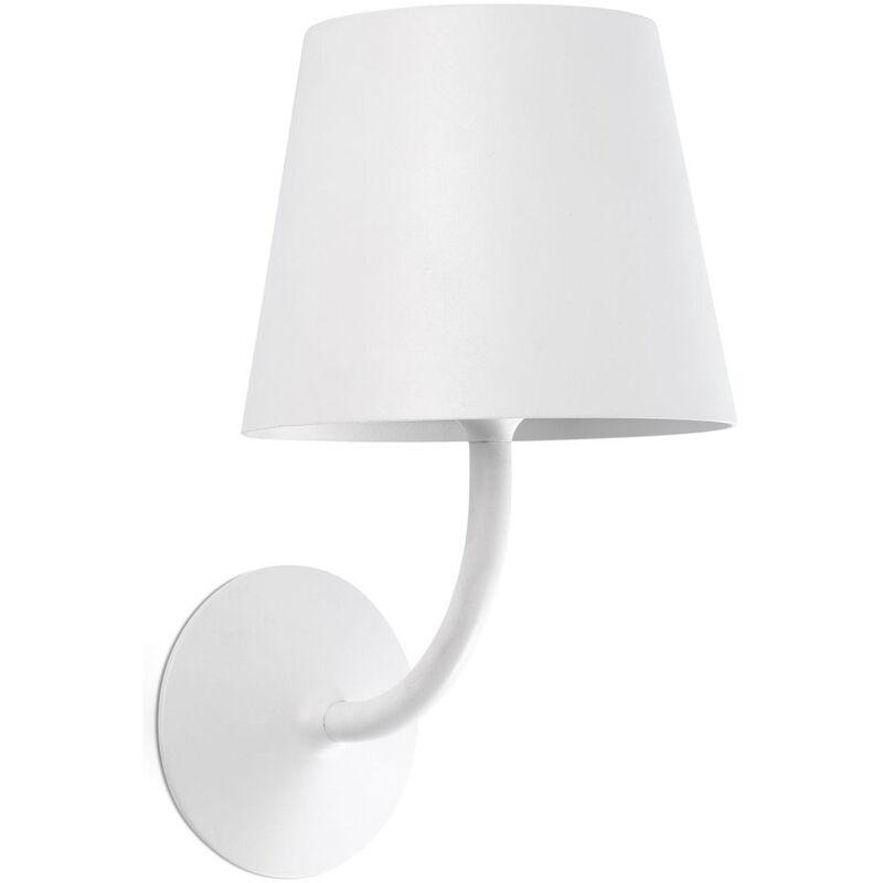 LED Außenwandleuchte Toc aus Aluminium und Kunststoff in Weiß