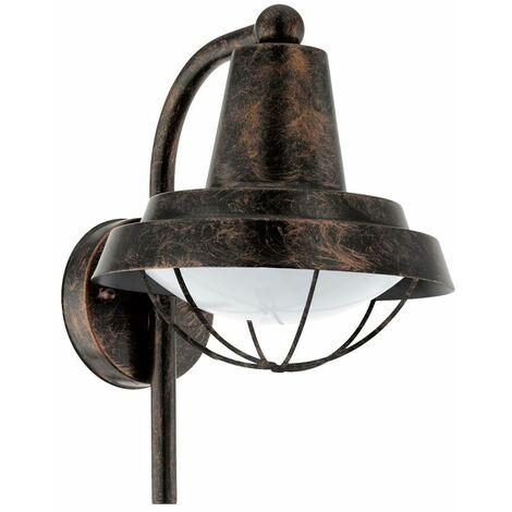 """main image of """"Farol de pared para exteriores vintage, lámpara de foco, patios, jardín, balcón, patio, lámpara de jaula, cobre  Eglo 94838"""""""