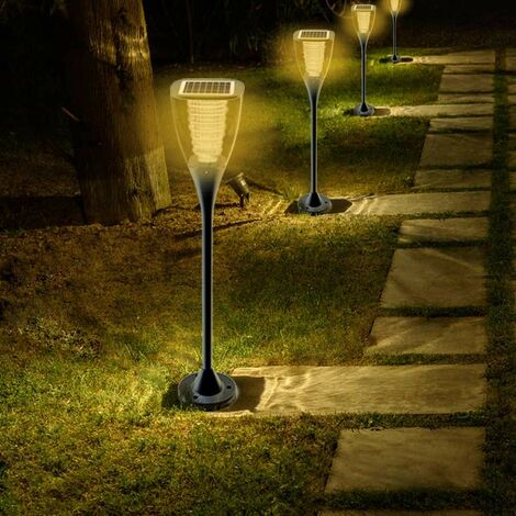 Farol LED energía solar jardín exterior VILLA