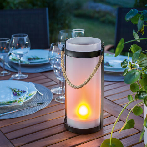 Farol solar con efecto de llama decorativa LED para jardín esotec 102099