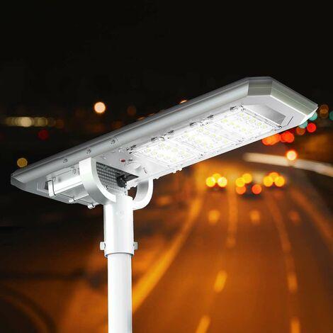 Farola Calle LED de Energía Solar 3000 Lumens con Panel Integrado TERMINATOR