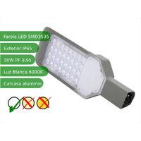 Farola LED 30W 6000K IP65 exterior alumbrado público SMD3535
