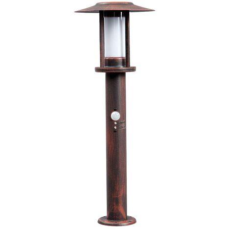 Farola LED Pavlos oxidada, sensor de movimiento