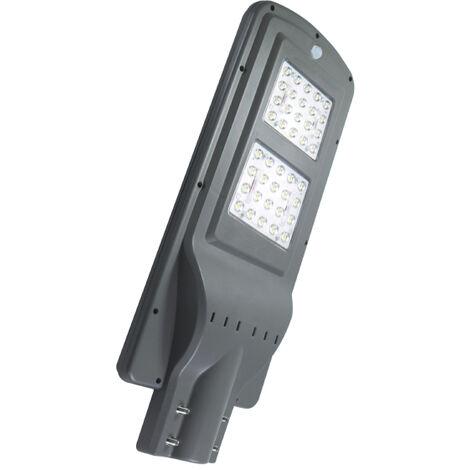 Farola Solar de LED para Alumbrado Público 40W con Sensor Blanco Frío 6000K | IluminaShop