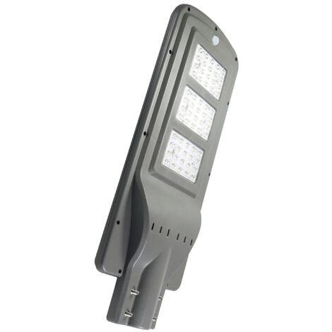 Farola Solar de LED para Alumbrado Público 60W con Sensor Blanco Frío 6000K | IluminaShop