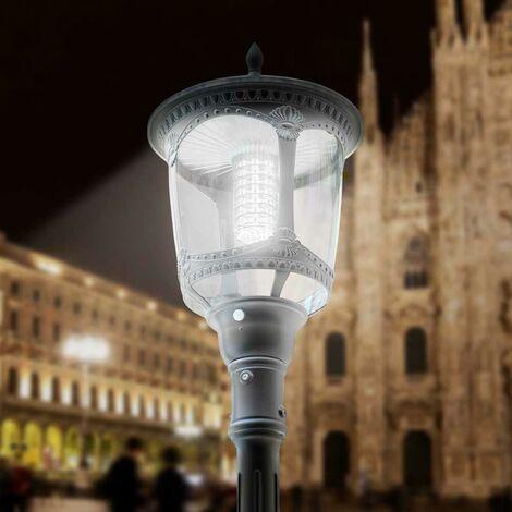 Farola solar Led para exteriores en estilo victoriano MILANO