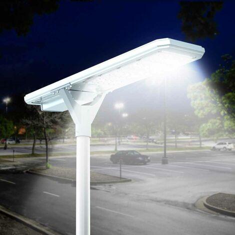Farola solar para alumbrado público LED 4000 lumens panel y sensores integrados MEGATRON