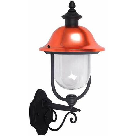 Farolillo de pared Vintage para bombilla LED UP E27 IP44 Negro