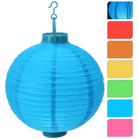 Farolillo Papel Con Led 6 Color 23X3X25 Cm - - Cc5410410