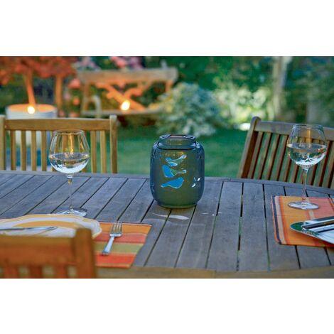 Farolillo solar de cerámica Solar Ceramica Nortene Azul