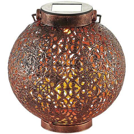 Farolillo solar LED Dunjaris, adornos, cobre.
