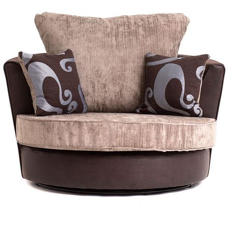 FARROW SWIVEL CHAIR IN BROWN - color Brown