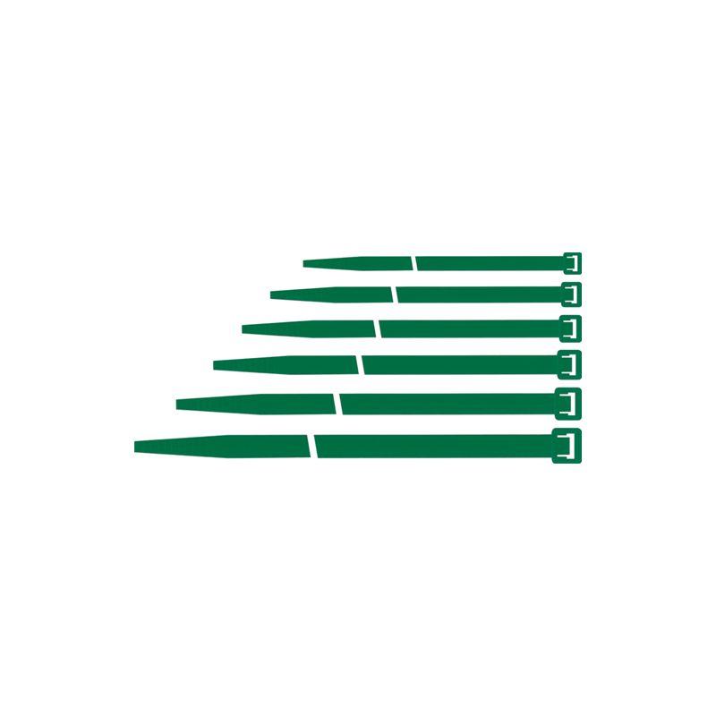 Fascette per Cavi Verde 200 pezzi in qualità industriale 2,6x100 mm