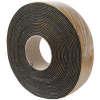 Fascia isolante adesiva in gomma nera metri 10 altezza mm 50 spessore mm 3