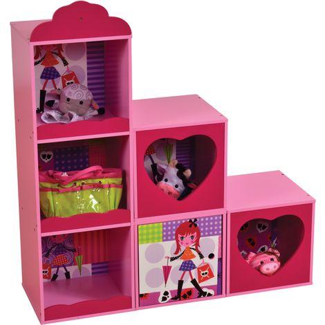 Fashion Girl Stacked Storage Shelf