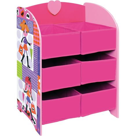 Fashion Girl Storage Shelf - 6 Bins