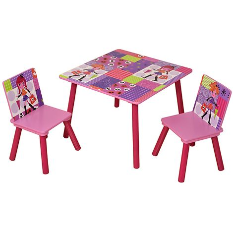 Fashion Girl Table & 2 Chair Set