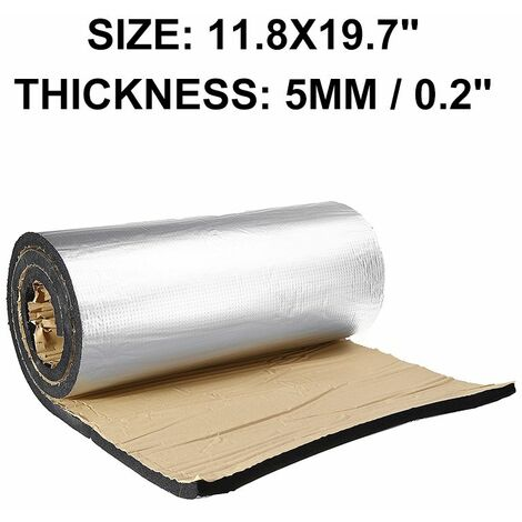 Fashion Hood Noise Control Sound Absorbing Car Heat Shield Insulation Proof Material Carpet Mat Car Accessories 30x50cm (5mm thickness)