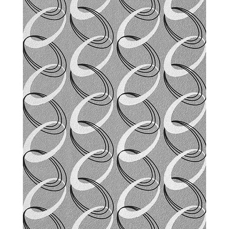 Fashion Retro Rings Wallpaper Wall Textured 70s Style Edem