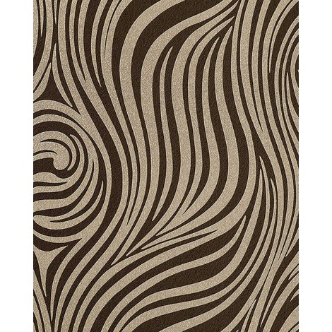 Fashion zebra style wallpaper wall EDEM 1016-13 texture striped vinyl extra washable cocoa-brown brown