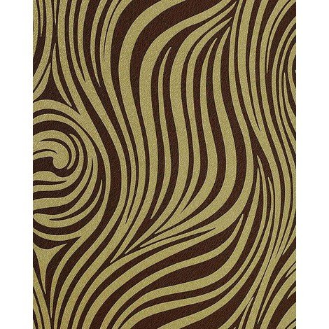 Fashion zebra style wallpaper wall EDEM 1016-15 texture striped vinyl extra washable olive green brown