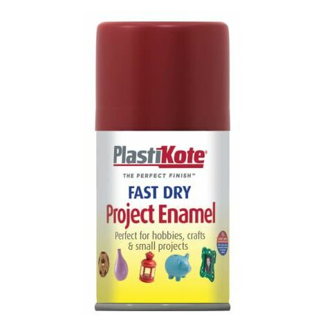 Fast Dry Enamel Aerosol Metallic Red 100ml (PKT134S)