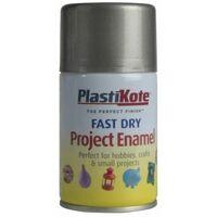 Fast Dry Enamel Aerosol Pewter 100ml (PKT159S)
