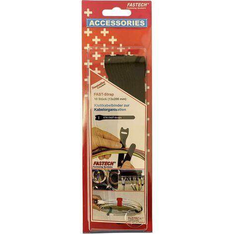 FASTECH® 802-330 Klettkabelbinder zum Bündeln Haft- und Flauschteil (L x B) 200mm x 13mm Schwarz 1 S19793