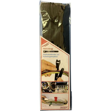 FASTECH® E1-2-330-B10 Klettkabelbinder zum Bündeln Haft- und Flauschteil (L x B) 200mm x 13mm Schw S28295