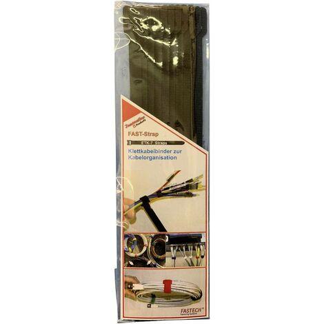 FASTECH® E7-2-330-B10 Klettkabelbinder zum Bündeln Haft- und Flauschteil (L x B) 200mm x 7mm Schwa S28374