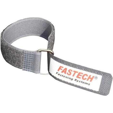 FASTECH® F101-20-220M-FT Klettband mit Gurt Haft- und Flauschteil (L x B) 220mm x 20mm Grau S24402