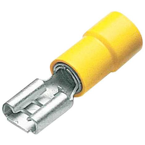 6mm connettore maschio fastom Presa Montaggio 4mm 5 colori 10 pezzi nel set