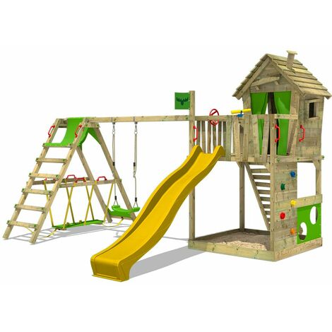 FATMOOSE Climbing frame HappyHome Hot XXL with SurfSwing and slide