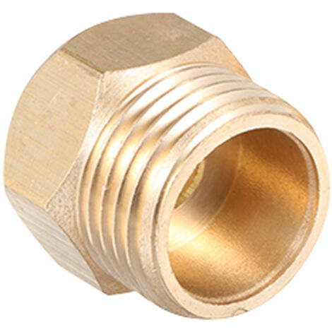 """main image of """"Faucet Adapter Connector 1/2 In to 3/8 In 9/16 In Kitchen Bathroom Basin Sink Copper Faucet Adapter Water Tap Hose Thread Adapter,model: 1-2 to 9-16"""""""