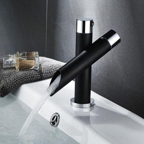 Faucet Mixer Tap Black Washbasin Sink Hose 1/2 Inch Solid Brass Kitchen Bathroom