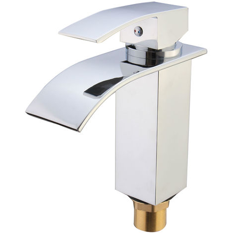 Faucet Mixer Tap In Stainless Steel Waterfall Bathroom Basin Sink Kitchen Shower